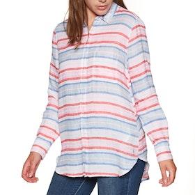 Joules Jeanneprint Womens Shirt - Red Multi Stripe