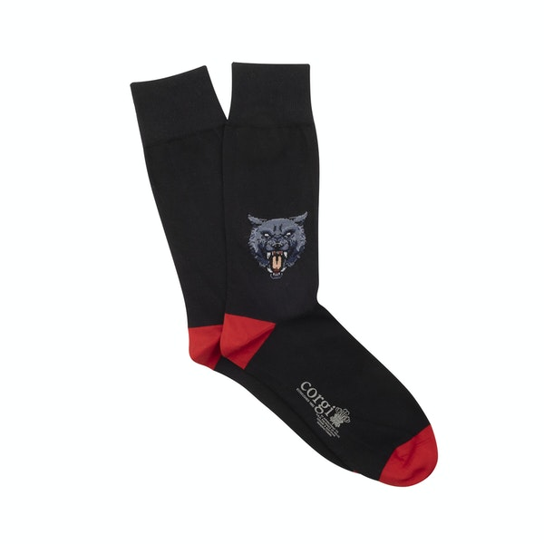 Corgi Angry Wolf Socks
