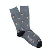 Corgi Happy Monkey Motif Socks