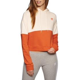 Adidas Originals Adi Womens Pullover Hoody - Ecru Tint Craft Orange