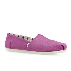 Toms Canvas Womens Shoes - Plum