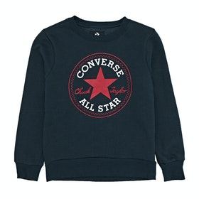 Converse Fleece Chuck Patch Crew Boys Sweater - Obsidian