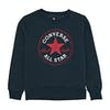 Converse Fleece Chuck Patch Crew Boys Sweater - Obsidian