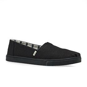 Toms Alpargata Cupsole Womens Slip On Shoes - Black Black Heritage Canvas