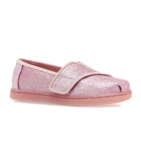 Scarpe Toms Classic Printed - Tiny Ballet Pink Glitter