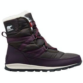 Sorel Whitney Short Lace Boots - Dark Plum