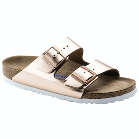 Сандалии Birkenstock Arizona Leather Soft Footbed Narrow - Metallic Copper