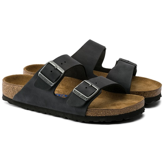 Birkenstock Arizona Oiled Leather Soft Footbed Sandals