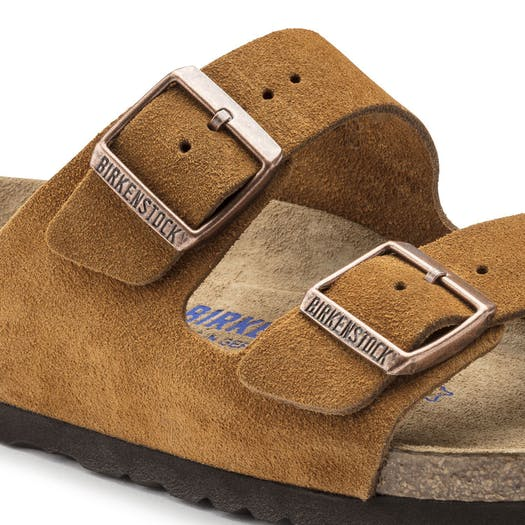 Birkenstock Arizona Suede Soft Footbed Sandały
