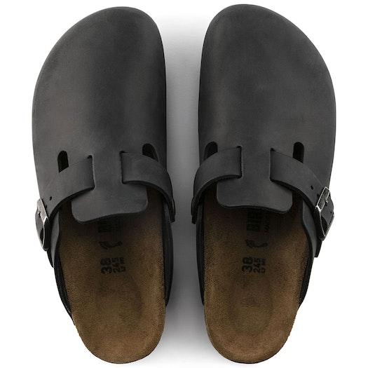 Birkenstock Boston Oiled Leather Slip On Trainers