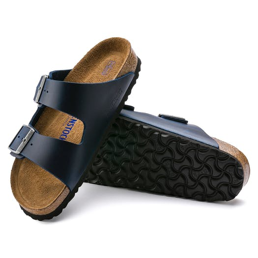 Birkenstock Arizona Oiled Leather Soft Footbed Sandały