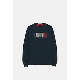 Le Fix Multi Letter Crew Sweatshirt - Navy