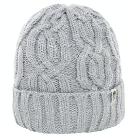 North Face Cable Minna Ladies Beanie - Tnf Light Grey Heather