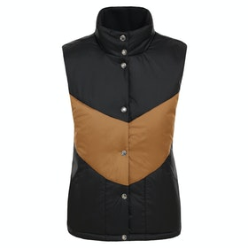 North Face Sylvester Vest - TNF Black Cedar Brown