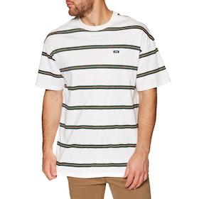 Globe Too Fast Stripe Short Sleeve T-Shirt - Milk