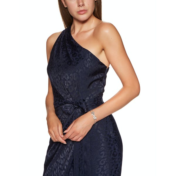 Ted Baker Zoeii Animal Jacquard Asymmetric Dress