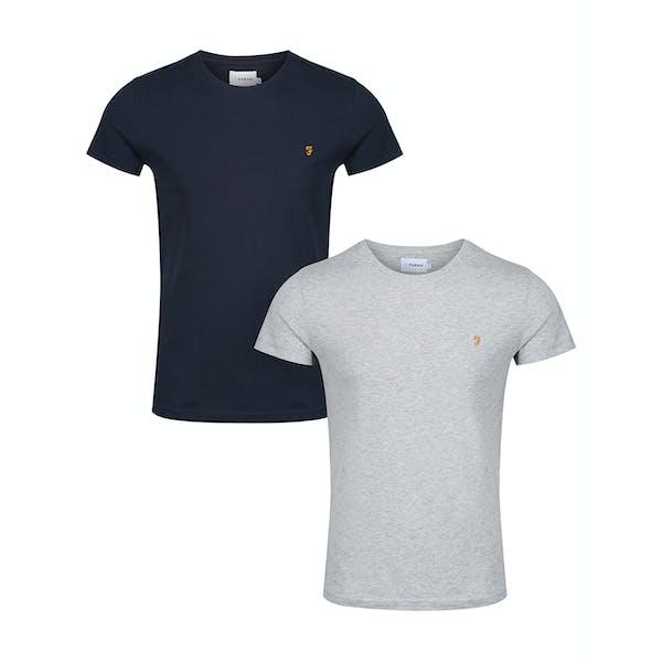 Farah Farris Twin Pack Short Sleeve T-Shirt