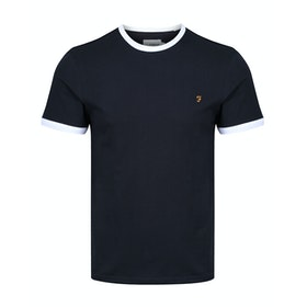Farah Groves Ringer Slim Fit Men's Short Sleeve T-Shirt - True Navy
