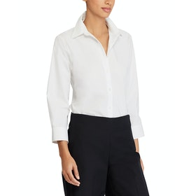 Lauren Ralph Lauren Gwenno 3/4 Sleeve Women's Shirt - White