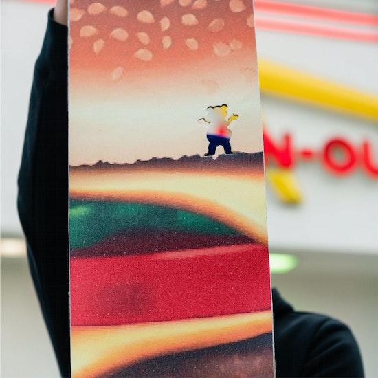 Grizzly Burger Skateboard Griptape