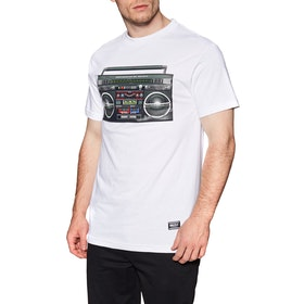 T-Shirt à Manche Courte Grizzly Boom Box - White