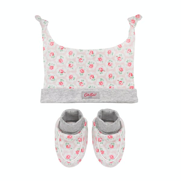 Cath Kidston Hat And Bootie Baby's Gift Set