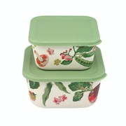 Cath Kidston Set Of Two Bamboo , Lunch Box