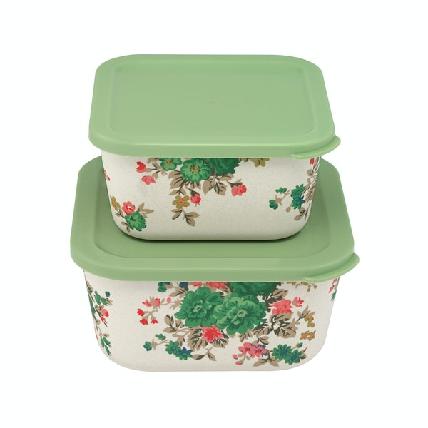 Cath Kidston Set Of Two Bamboo Lunch Box