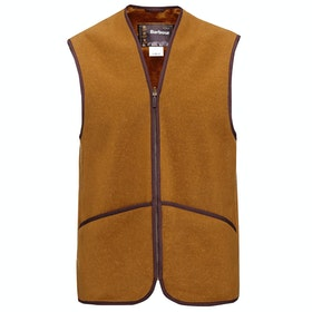 Barbour Warm Pile Waistcoat Zip in Liner Mens Gilet - In Liner Brown