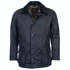 Barbour Ashby Mens Wax Jacket - Navy