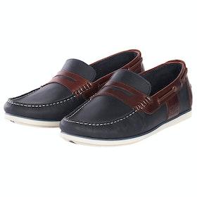 Barbour Keel Boat Dress Shoes - Navy Brown