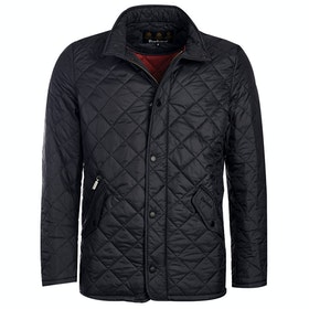 Barbour Flyweight Chelsea Quilted Jacket - Black Red