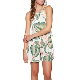 Roxy Favorite Song Womens Playsuit - Marshmallow Tropical Love