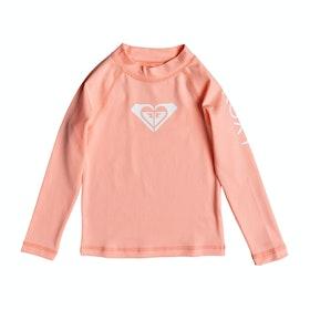 Roxy Whole Hearted Long Sleeve Girls Rash Vest - Souffle