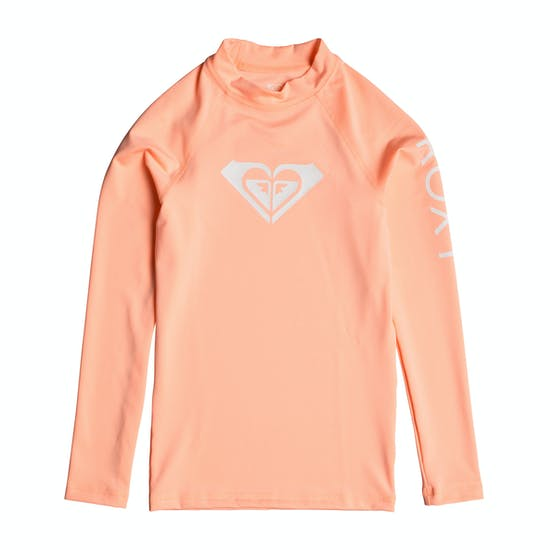 Roxy Whole Hearted Long Sleeve UPF 50 Girls Rash Vest