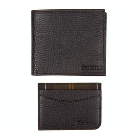 Barbour Card Holder and Wallet - Dark Brown