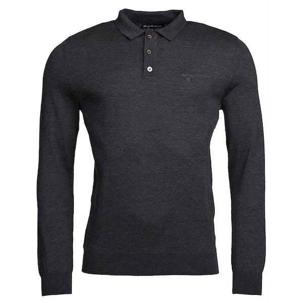 Barbour Merino Long Sleeve Men's Polo Shirt