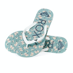 Roxy Tahiti VI Womens Sandals - White Green