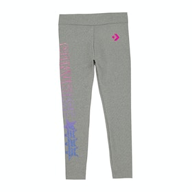 Converse Gradient High Rise Girls Leggings - Dark Grey Heather