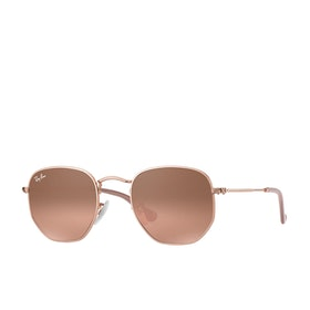 Ray-Ban Hexagonal Sunglasses - Copper ~ Pink Gradient Brown