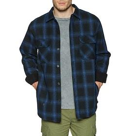 Vissla Kerrupt Bonded Flannel Shirt - Dark Denim