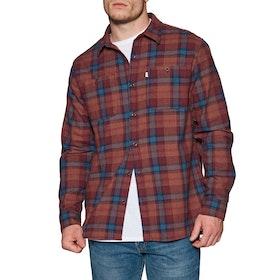 Katin Harold Flannel Shirt - Dark Red