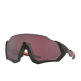 Oakley Flight Jacket Sunglasses - Matte Black Orange ~ Prizm Road Black