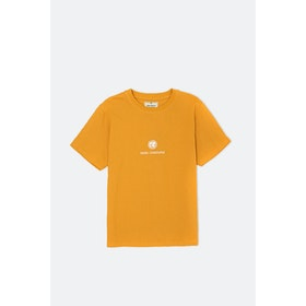 Nigel Cabourn Globe Logo S S T-Shirt - Yellow
