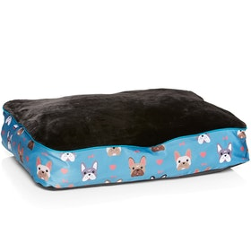 Derby House Pro Frenchie Print Pet Bed - Niagra Ash Rose