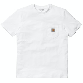 T-Shirt de Manga Curta Carhartt Pocket - White