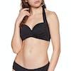 Seafolly Twist Soft Cup Halter Bikini Top - Black