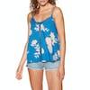 Roxy Floral Slow Womens Camisole Vest - Mykonos Blue