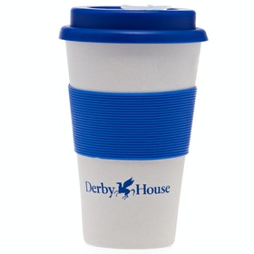 Derby House Bamboo Travel Mug - Navy White