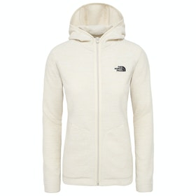 North Face Nikster Full Zip H Dame Fleece - Vintage White Light Heather